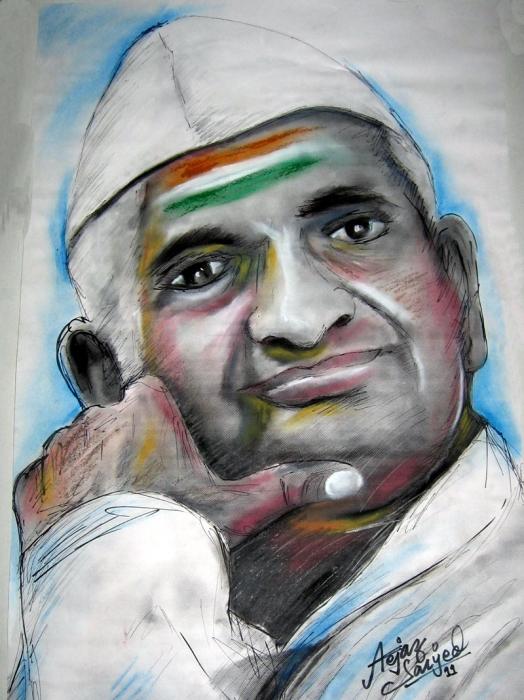Anna Hazare por aejazsaiyed